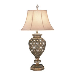 Fine Art Lamps - Fine Art Lamps 174110ST A Midsummer Nights Dream Patina Table Lamp - 1 Bulb, Bulb Type: 50/100/150 Watt Medium; Weight: 15lbs