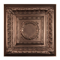 """Empire Ceiling Tile - Faux Bronze - Perfect for both commercial and residential applications, these tiles are made from thick .03"""" vinyl plastic. Their lightweight yet durable construction make these tiles easy to install. Waterproof, these tiles are washable and won't stain due to humidity or mildew. A perfect choice for anyone wanting to add that designer touch at an amazing price."""