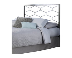 Fashion Bed - Fashion Bed Camden Headboard in Golden Frost-Full size - Fashion Bed - Headboards - B12A24 - The Camden Bed offers a clean, sharp, unique look that quickly updates and changes your space. With square metal rails and posts and a fresh geometric design, the Camden Bed complements your contemporary decor with high-class style. The Camden Bed is finished in golden frost, a silvery base with gold-toned, hand applied sponging which creates a richly aged finish that complements its graceful lines. The Camden Bed is available in full, queen, and king sizes to accommodate any bedroom.