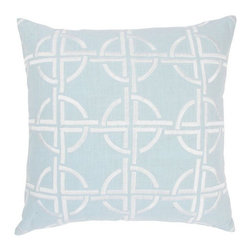 Rizzy Home - Spa and White Decorative Accent Pillows (Set of 2) - T03560 - Set of 2 Pillows.