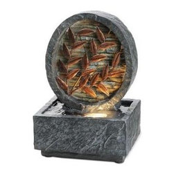 OK LIGHTING - OK LIGHTING 9.5 in. Antique Copper Leaf Fountain FT-1177/1L - Shop for Lighting & Fans at The Home Depot. 9.5 in. Copper leaf fountain. Antique copper leaves inside a stone setting lit by led. It s for any of room. The instruction is included and easy to install. The level of the water must cover the pump.