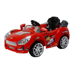 Best Ride On Cars - Best Ride On Cars Hot Racer Car Battery Powered Riding Toy - Red Multicolor - 63 - Shop for Tricycles and Riding Toys from Hayneedle.com! Just like a certain cartoon racecar the Premium Hot Racer Car #19 - Red knows that any race car worth its oil has got to be red. And your child will be immediately drawn to this winner as well since studies show that bright primary colors engage children's attention and imagination quicker than any other. But the color only scratches the surface of what your little one will truly love about this riding toy. These riding toys are full of features that make kids feel like they're driving the real thing. The gas pedal horn real headlights and MP3 adapter steering wheel allow kids to feel grown-up as they're driving around. And until they have grown up enough to handle this ride on car on their own you'll be able to drive them around the driveway with the remote control. This interactive play gives your child lasting memories to grow with as well as self-confidence that will empower them to learn and explore on their own. Parents will also love that this riding toy stays at a safe two to three miles an hour. And because they can actually buckle up just like a real driver they'll begin establishing good habits that will keep them healthy and safe in the future. And instead of actually guzzling real gas or oil this riding toy's 6V battery has plenty of juice to keep the fun going up to an hour and a half after each 3-4 hour charge. Additional Features Red plastic body construction Bigger seat with more leg room 6V 10Ah battery and charger included Battery runs for 1-1.5 hours after each 3-4 hour charge Reverses and max speed is 2-3 mph Weight: 33.06 lbs. About Best Ride On CarsRealizing that an active childhood leads to a long healthy life Best Ride On Cars was formed with the admirable goal of helping kids enjoy every moment of their childhood through safe and active play. Producing a huge selection of high-quality toys for all age groups Best Ride On Cars helps bring families together through interactivity. Specializing in battery operated cars jeeps motorcycles and ATVs Best Ride On Cars has also grown to develop electric scooters bounce houses and even weight scales.