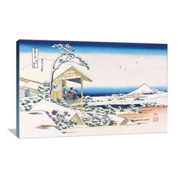 "Artsy Canvas - View Of Mount Fuji In Winter 36"" X 24"" Gallery Wrapped Canvas Wall Art - View of Mount Fuji in Winter - Katsushika Hokusai (1760 beautifully represented on 36"" x 24"" high-quality, gallery wrapped canvas wall art"