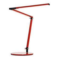 Koncept - Koncept AR3100 Z-Bar Mini Metallic LED Desk Lamp, Red - Koncept AR3100-W-RED-DSK Z-Bar Mini Red LED Desk Lamp