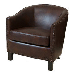 Great Deal Furniture - Allegro Brown Leather Club Chair - The Allegro Leather Club Chair is a fusion of modern style with the luxury of leather. Crafted with only the highest quality materials, our bonded leather is soft, smooth, and will provide durability for years to come. The Allegro will be welcomed into your home.