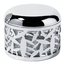 "Alessi - Alessi ""Cactus!"" Cheese Cellar - This is a parmesan cheese cellar in 18/10 stainless steel mirror polish and glass."