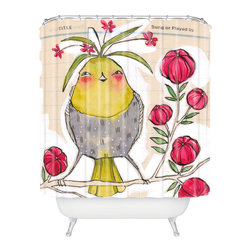 DENY Designs - Cori Dantini Sweetness And Light Shower Curtain - Who says bathrooms can't be fun? To get the most bang for your buck, start with an artistic, inventive shower curtain. We've got endless options that will really make your bathroom pop. Heck, your guests may start spending a little extra time in there because of it!