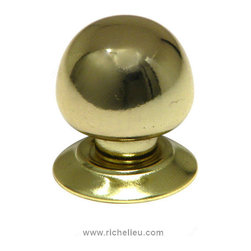"Classic Metal Wardrobe Knob - 460 - Bp460130 - Finish Brass Diameter 1.313"" Material Metal Projection - Overall Dimensions 1.38"" Screw/Nail 0.25"" Packaging format Bag"