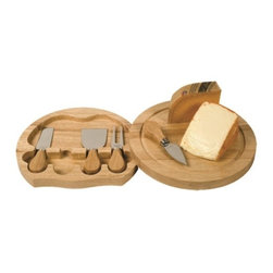 Franmara - 11.87 Inch Round Swivel Cheese Board Set with 4 Cheese Knives, Large - This gorgeous 11.87 Inch Round Swivel Cheese Board Set with 4 Cheese Knives, Large has the finest details and highest quality you will find anywhere! 11.87 Inch Round Swivel Cheese Board Set with 4 Cheese Knives, Large is truly remarkable.