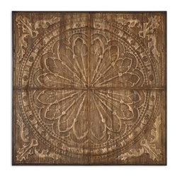 Uttermost - Camillus Rustic Wall Art - Deck your wall with something truly unique. This impressive medallion, the work of designer Billy Moon, is created by compressing banana tree bark over metal. It unites the natural and the architectural to striking effect.