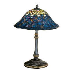 "Meyda Lighting - Meyda Lighting 28368 22""H Tiffany Peacock Feather Table Lamp - Meyda Lighting 28368 22""H Tiffany Peacock Feather Table Lamp"