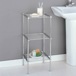 Organize It All - Organize It All Metro 16983W-1 3 Tier Shelf Multicolor - 16983W-1 - Shop for Bathroom Etageres Racks and Space Savers from Hayneedle.com! Sleek and modern the Organize It All Metro 16983W-1 3 Tier Shelf is perfect for your kitchen bathroom or office. The sturdy tubular metal construction adds lasting beauty and a chic style. Three open shelves are ideal for storage and display while the chrome finish complements the style of any room.About Organize It All With masterful designs using top-quality materials Organize It All is dedicated to providing convenient and stylish storage solutions for every room in your home believing that a well-organized environment is more enjoyable.