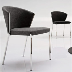 Calligaris Mya Dining Room Chair - Really striking, comfortable looking modern design which comes in three different fabric options, all which can be removed and washed-nice!