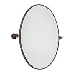 Oval Tilt Bathroom Mirror Large - 3 finishes -