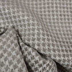 Swavelle - Dotcom Charcoal Grey Houndstooth Upholstery Fabric - Dotcom Charcoal is grey Swavelle Mill Creek upholstery fabric. Great for any upholstery applications  as well as pillows, bedding and window treatments.  Fabric is sold by the continous yard.