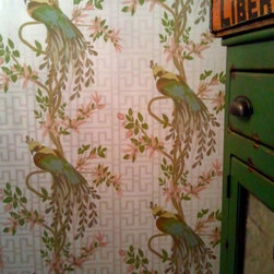 Central Park West - Fantastic wallpaper featured in family dining room.