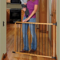 Kidco Inc - KidCo Designer Angle Mount Wood Safeway Gate - Oak Multicolor - G2400 - Shop for Safety Gates from Hayneedle.com! The KidCo Designer Angle Mount Wood Safeway Gate - Oak is great for any staircase with balusters that don't line up. Constructed from durable hardwood and steel material this handsome gate easily installs in any unique stairwell. Ideal for the top of stairs this gate features a fully swinging structure without any ground rails to trip over though it works great in any high-traffic area of your home.About KidCoIncorporated in 1992 KidCo specializes in the designing engineering and production of upscale products for juvenile pet and fireplace markets. The pressure-mounted safety gate was a completely new concept that put KidCo on the map and has since been the cornerstone of their business. KidCo offers a comprehensive assortment of child home safety products ranging from cabinet locks to TV straps and much much more. Located in Libertyville IL their state-of-the-art distribution and administration systems ensure that KidCo fulfills their customers' needs and expectations in an efficient and timely manner. Today KidCo personnel still personally ensure the highest level of customer service to both dealers and end consumers.