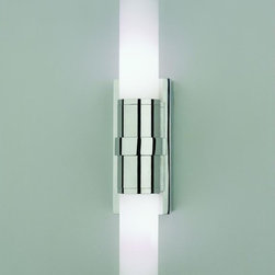 Robert Abbey - Robert Abbey-C1315-Roderick - Bath Sconce - Halogen - Roderick - Bath Sconce - Halogen                                                                                                                       Polished Chrome Finish-White Frosted Glass
