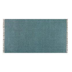 Uttermost - Uttermost 71041-5 Cascadia Blue Gray Hand Woven Cottons 5 x 8 Area Rug - Uttermost 71041-5 Cascadia Blue Gray Hand Woven Cottons 5 x 8 Area Rug
