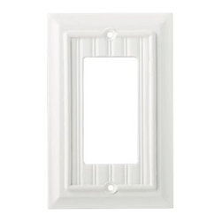 Liberty Hardware - Liberty Hardware 126357 Beadboard WP Collection 3.39 Inch Switch Plate - White - A simple change can make a huge impact on the look and feel of any room. Change out your old wall plates and give any room a brand new feel. Experience the look of a quality Liberty Hardware wall plate.. Width - 3.39 Inch,Height - 5.5 Inch,Projection - 0.4 Inch,Finish - White,Weight - 0.13 Lbs