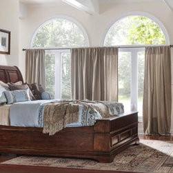 Monroe Sleigh Bedroom Collection - Your bedroom is intended for rest and relaxation! Why not enjoy the coziest, most inviting bed? The Monroe bedroom is the epitome of luxury combining both contemporary and traditional design elements together for a uniquely versatile style.