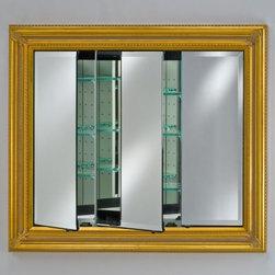 Afina Vanderbilt Large Triple Door Recessed Baroque Medicine Cabinet ...
