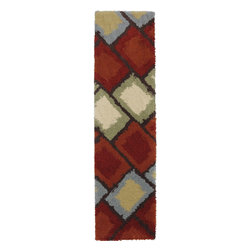 """American Rug Craftsmen - Contemporary Shaggy Vibes Hallway Runner 2'0""""x7'10"""" Runner Multi Color Area Rug - The Shaggy Vibes area rug Collection offers an affordable assortment of Contemporary stylings. Shaggy Vibes features a blend of natural Multi Color color. Machine Made of 2ply Heat Set Polypropylene the Shaggy Vibes Collection is an intriguing compliment to any decor."""