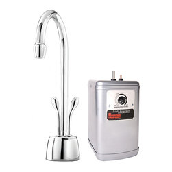 Mountain Plumbing - Mountain Plumbing The Little Gourmet Instant Hot and Cold Water Dispenser - Mountain Plumbing 650DIYNLBRN The Little Gourmet Instant Hot and Cold Water Dispenser with Heating Tank, Brushed Nickel