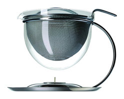 "Mono - Filio Collection - 50 oz. Teapot With Integrated Warmer, Chrome - When tea connoisseurs dream, they dream of teapots like this. Impeccable design elevates the Filio Collection Teapot above all others. The elegant sieve infusion and glass bowl, arched stand and tea light tray bring ""tea-totaling"" dreams to life."