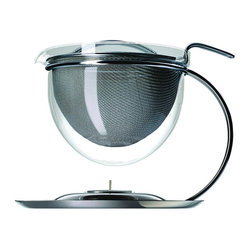 Filio Collection - 50 oz. Teapot With Integrated Warmer, Chrome