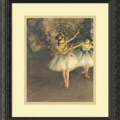 """Two Dancers on Stage c. 1874"" Framed Print by Edgar Degas"