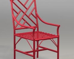 Chinese Chippendale Armchair - I love the design of this outdoor Chinese Chippendale chair. It's available in your choice of many wonderful colors, but I think this red is fantastic!