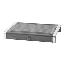 Focus Electrics - Grill/Griddle - WestBend Reversible grill/griddle; non stick die cast cooking plate; features a grill on one side and griddle on the other; grill plate is dishwasher safe.