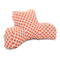 Outdoor Burnt Orange Bamboo Reading Pillow