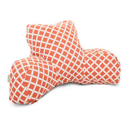 Majestic Home - Outdoor Burnt Orange Bamboo Reading Pillow - Now you can really relax — indoors or out. This update on the beanbag supports you in style, and the fabric has been treated with UV protection so that it can take a sun beating and still look great.