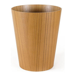 Pfeifer Studio - Ayous Wood Wastebin - Give your modern home a slightly African flair with this attractive wastebin. The veneer is composed of tropical African ayous wood, known worldwide for its handsome pattern and coloring.