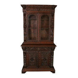 EuroLux Home - Consigned Antique French Buffet Hunting Style - Product Details