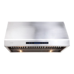 None - Cavaliere AP238-PS81-30 Under Cabinet Range Hood - Allow your inner chef to run wild with the help of this sleek under cabinet range hood. This stainless steel range hood uses a digital display to offer a variety of fan settings to keep your kitchen cool and safe.