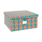 Working Class Studio - Re-Gift Collection Flora Box, Teal, Large - Great things come in pretty packages. Anything you give in this peppy floral box, complete with its own ID tag, is sure to be cherished.