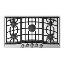 """Viking 3 Series 36"""" Gas Cooktop, Stainless Steel Liquid Propane 