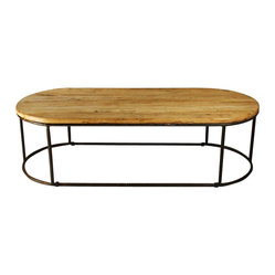 Zentique Rustique Rounded Coffee Table