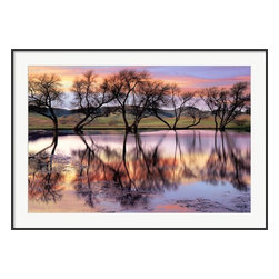 Gorgeous Framed Art Print Lake Reflection by Loren Soderberg - Thin Frame - Gorgeous Framed art print Lake Reflection by Loren Soderberg - Thin Frame