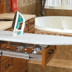 Rev-A-Shelf - In-Drawer Mount Ironing Board - This specially designed pullout features a pop-up ironing board that slides right back in when you're finished pressing.