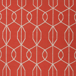 Jaipur Rugs - Flat Weave Geometric Pattern Red /Orange Wool Handmade Rug - MR17, 5x8 - An array of simple flat weave designs in 100% wool - from simple modern geometrics to stripes and Ikats. Colors look modern and fresh and very contemporary.