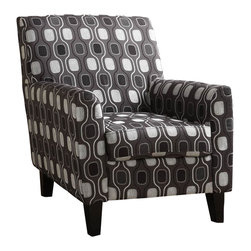 Armen Living - Armen Living Fiesta Gray Circles Fabric Club Chair - Armen Living - Club Chair - LC2010FAGRAY - Very comfortable club chair for either a living room or a family room. Easy to decorate with. Armen Living is the quintessential modern-day furniture designer and manufacturer. With flexibility and speed to market Armen Living exceeds the customers expectations at every level of interaction. Armen Living not only delivers sensational products of exceptional quality but also offers extraordinarily powerful reliability and capability only limited by the imagination. Our client relationships are fully supported and sustained by a stellar name legendary history and enduring reputation. The groundbreaking new Armen Living line represents a refreshingly innovative creative collaboration with top designers in the home furnishings industry. The result is a uniquely modern collection gorgeously enhanced by sophisticated retro aesthetics. Armen Living celebrates bold individuality vibrant youthfulness sensual refinement and expert craftsmanship at fiscally sensible price points. Each piece conveys pleasure and exudes self expression while resonating with the contemporary chic lifestyle.