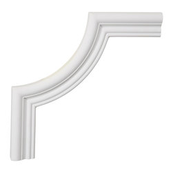 """Ekena Millwork - 10""""W x 10""""H x 1/2""""P Swindon Panel Moulding Corner - 10""""W x 10""""H x 1/2""""P Swindon Panel Moulding Corner. Our beautiful panel moulding and corners add a decorative, historic, feel to walls, ceilings, and furniture pieces. They are made from a high density urethane which gives each piece the unique details that mimic that of traditional plaster and wood designs, but at a fraction of the weight. This means a simple and easy installation for you. The best part is you can make your own shapes and sizes by simply cutting the moulding piece down to size, and then butting them up to the decorative corners. These are also commonly used for an inexpensive wainscot look."""