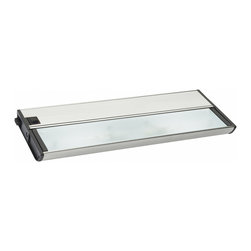 Kichler 2-Light Cabinet Strip/Bar Light Cabinet collection - Brushed Nickel - Two Light Cabinet Strip/Bar Light Cabinet collection: modular cabinet light. Fixture and light bulbs only. 2-light . Included: 2-18w xenon light bulbs . Hardwired