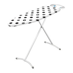 Minky Homecare - Minky Homecare Compact Ironing Board Multicolor - HH40801501 - Shop for Ironing Boards from Hayneedle.com! Being limited on home interior space doesn't mean having to limit your personal exterior style with the Minky Homecare Compact Ironing Board. This ironing board gives you the ability to be the well-dressed person you envision without requiring an entire room devoted to it. Compact and fully collapsible this board nevertheless comes with impressive features that help turn a tiresome chore into a quick enjoyable part of getting ready. The steel mesh steamflow technology is designed to maximize efficiency reducing the time needed to complete the task. And backaches from awkward positioning are a thing of the past with this board's infinite height adjustment capability offering you an ergonomic experience that will help you move faster and feel better. The attached iron rest also allows you to set your iron down between garments without having to worry about it getting in the way or dangerous steam escaping. Perhaps you could devote that extra room to your wardrobe instead.About Minky HomecareWith a history that stretches clear back to the mid-nineteenth century Minky Homecare has the experience and integrity to ensure that your housework is quick and easy. Part of Vale Mill Minky Homecare is a family owned and run business which means personal care and commitment to developing the very best cleaning products on the market. From prepacked cleaning cloths to ironing boards from air driers to household cleaners and organizers Minky has been on the cutting edge of homecare for over half a century. As a result they have grown into international markets and have even been granted a warrant by the British Royal Household. With Minky Homecare housework is a pleasure and does itself when you don't want to.