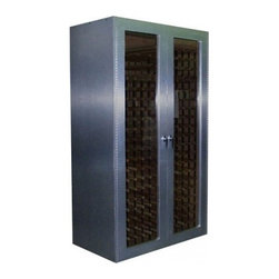 Vinotemp - 700-BA Wine Cooler Cabinet with 440-Bottle Capacity  Brushed Aluminum - This sleek wine cabinet with its brushed aluminum finish is not only storage and protection for up to 440 bottles of wine but its a sturdy piece of furniture that will last through the years An unfinished oak interior protects your wine collection fr...