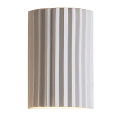 """10"""" Accordion Geometric Wall Sconces - Our 10"""" Accordion Geometric Wall Sconce echoes elegant fluted pillars from bygone eras in wall sconces lighting that easily goes contemporary or classic, one of more than 400 styles in wall lighting, lamps and other products designed by FABBY, which yes, is short for fabulous, our design goal when fashioning every light, including of course our sconce lighting fixtures. You can mix and match wall sconces lighting choices to ceiling or other lights for a truly polished look. Tres chic! One bulb lamp, not included. Maximum incandescent wattage: 150W. Maximum CFL wattage: 18W. This product is UL Listed."""
